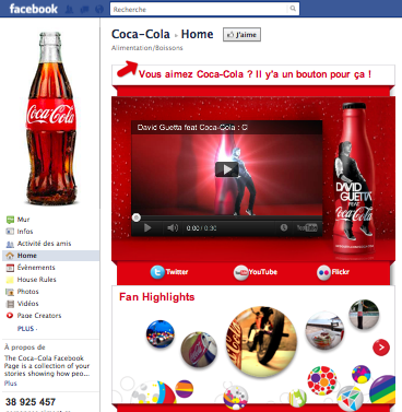 Personnalisation de page facebook