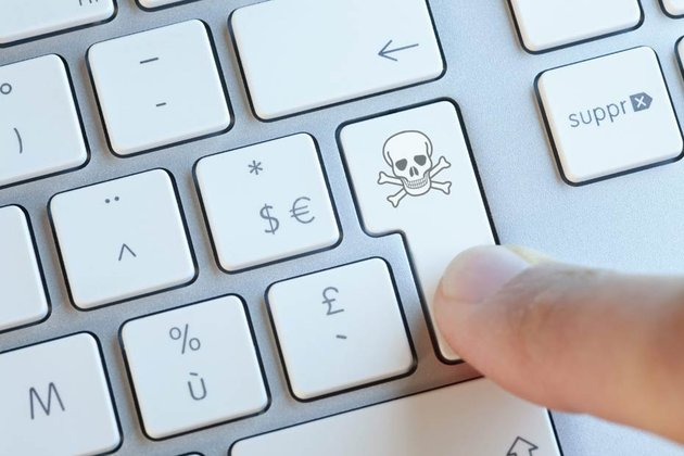 site internet piraté virus